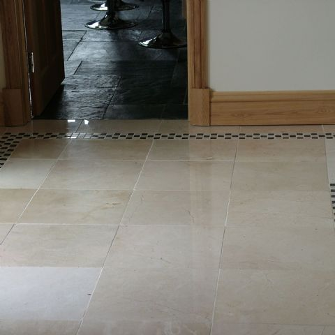Crema Marfil Polished Limestone Floor Tile