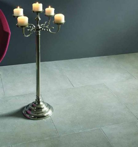 London Grey Tumbled Limestone Tiles