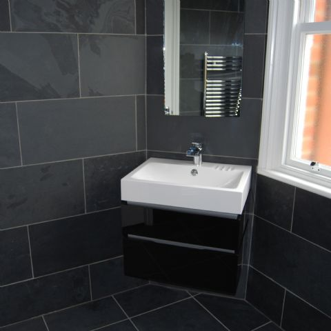 Brazilian Black calibrated natural slate floor and wall tiles ...