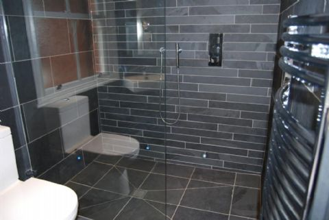 Brazilian Black slate floor tile