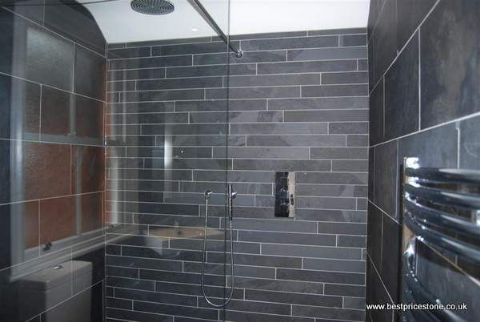 ... Brazilian Black Slate Floor Tile ...