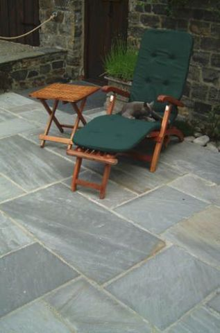 Captivating ... Thin Grey (Sandstone) Patio Pavers ...