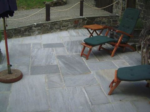 Marvelous ... Thin Grey (Sandstone) Patio Pavers ...