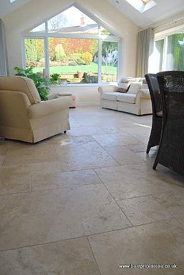 Chiaro Travertine Floor Tiles (Tumbled and Unfilled)