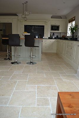 Antiqued Limestone Floor Tiles